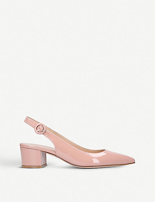 GIANVITO ROSSI Amee 45 patent-leather slingback courts
