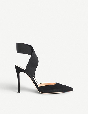 GIANVITO ROSSI Beryl ankle-wrap suede courts