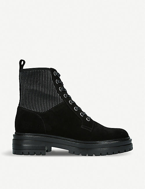 GIANVITO ROSSI: Martis 20 leather combat boots