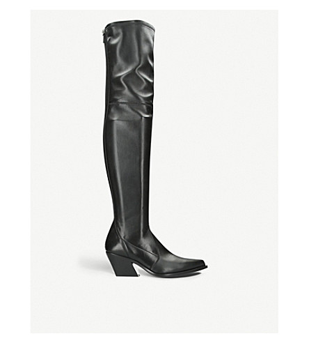 GIVENCHY High stretch-leather square-heel boots (Black 78f2ca518