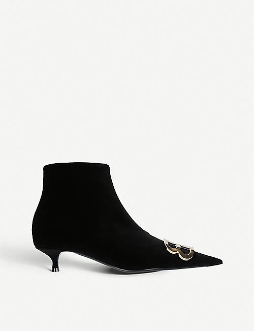 474c9bc791a BALENCIAGA BB embellished velvet ankle boots