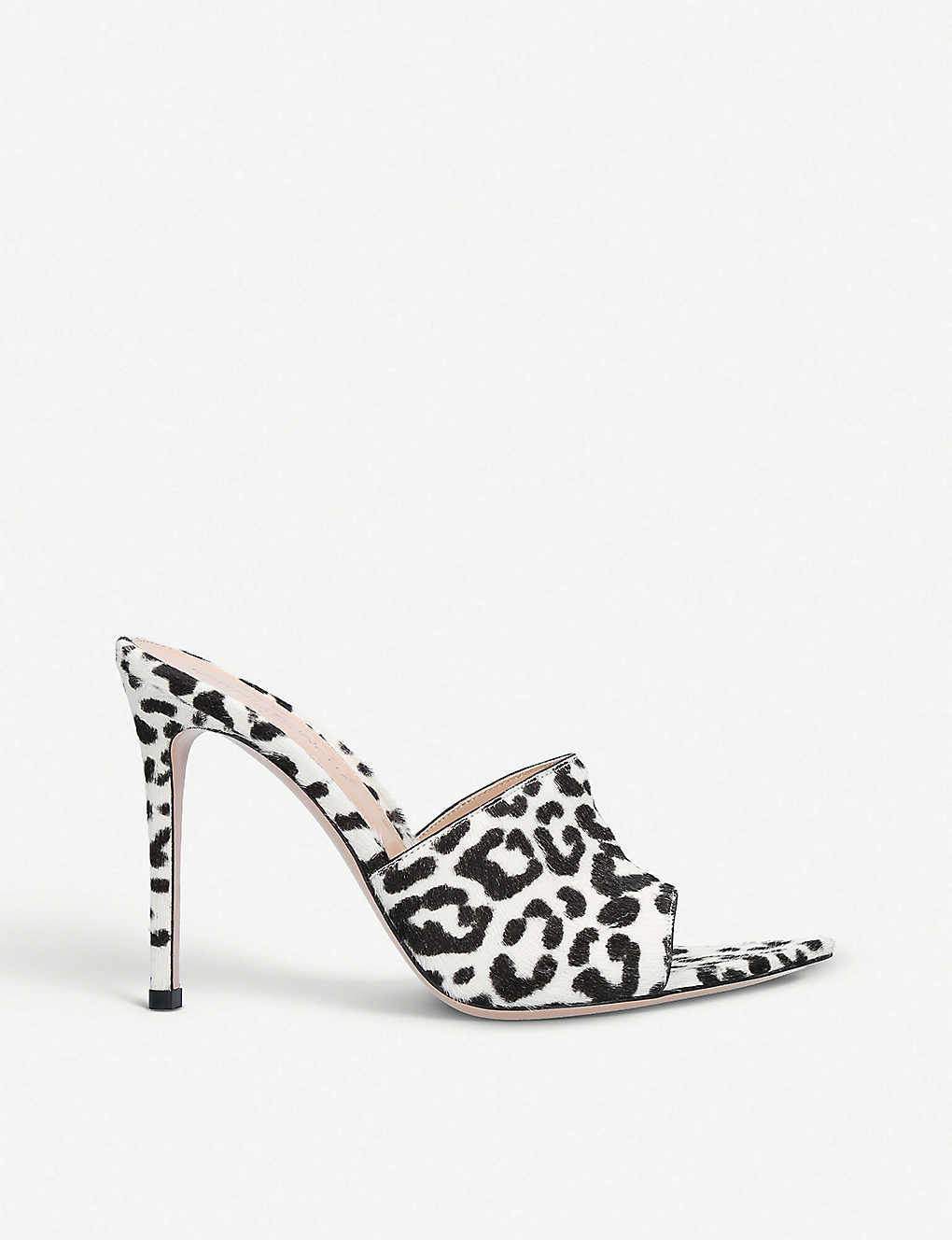 03afd2114139 GIANVITO ROSSI Haircalf Alise 105 leopard-printed ponyhair heeled mules