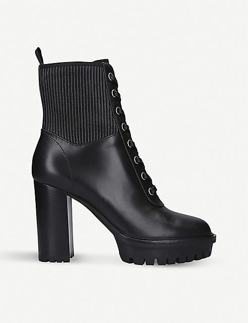 GIANVITO ROSSI: Martis 105 leather ankle boots