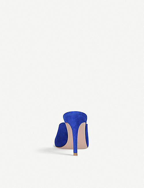 GIANVITO ROSSI Fannie 85 suede heeled mules