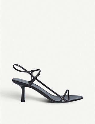 THE ROW: Nude strappy leather heeled sandals