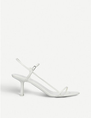 THE ROW: Bare leather heeled sandals