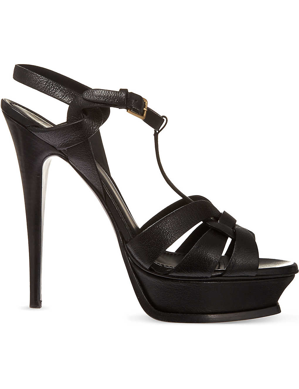 961167c04a6 SAINT LAURENT - Tribute 105 leather heeled sandals | Selfridges.com
