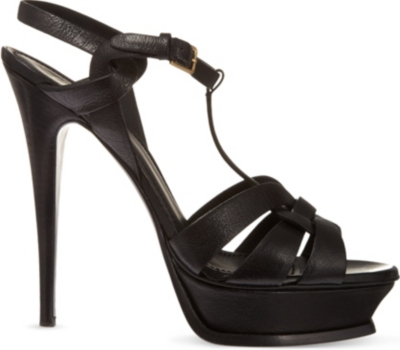 SAINT LAURENT Tribute 105 leather heeled sandals