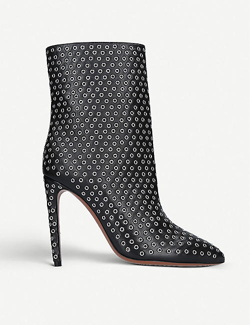 952d2989d4e6 AZZEDINE ALAIA Rivet 110 leather ankle boots