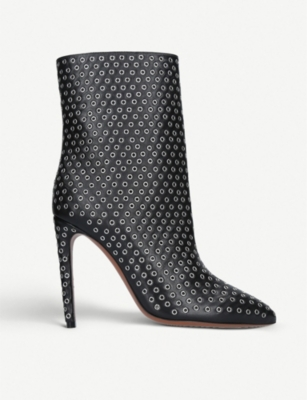 AZZEDINE ALAIA Rivet 110 leather ankle boots