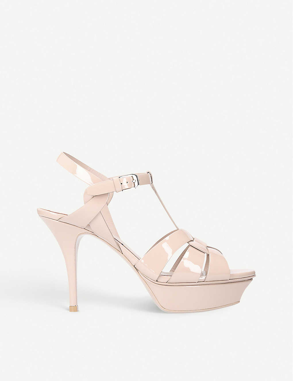 9e7dcd98d9e SAINT LAURENT - Tribute 75 patent leather sandals | Selfridges.com