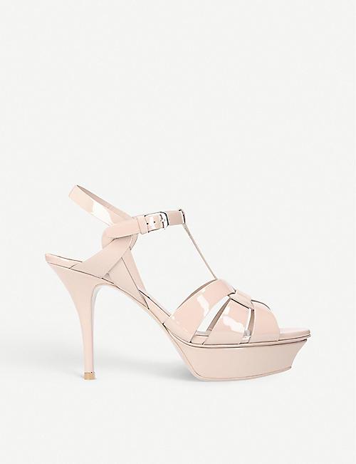 SAINT LAURENT Tribute 75 patent leather sandals 41cdbcfb5