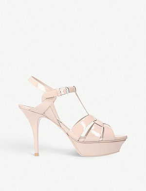 SAINT LAURENT Tribute 75 patent leather sandals