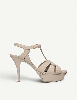SAINT LAURENT Tribute 75 leather heeled sandals
