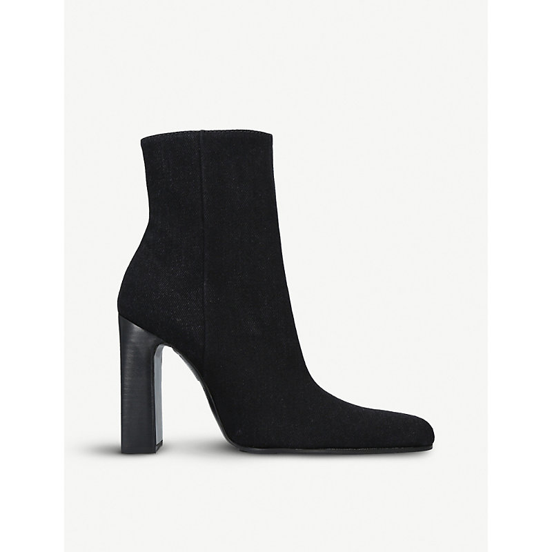 BALENCIAGA   Suede Block-Heel Ankle Boots   Goxip