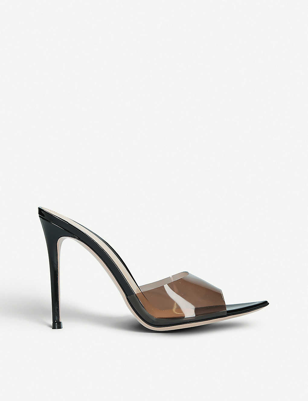 39c6e2b6cd7 GIANVITO ROSSI - Elle 105 leather and PVC mules