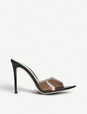 GIANVITO ROSSI Elle 105 leather and PVC mules