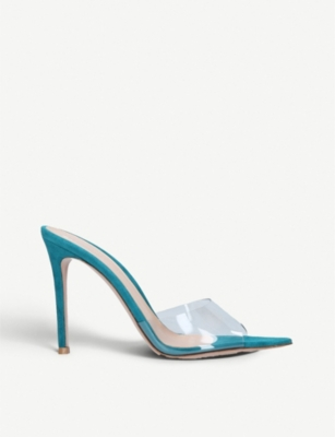 GIANVITO ROSSI Elle 105 patent-leather and PVC mules