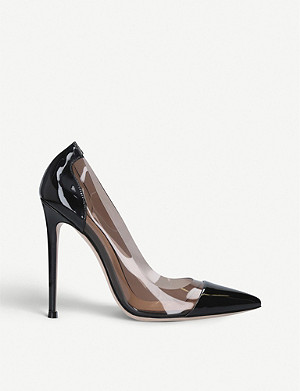 GIANVITO ROSSI Plexi patent leather and PVC courts