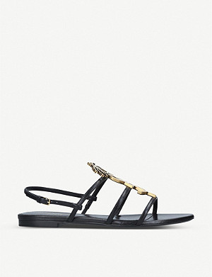 SAINT LAURENT Cassandra leather sandals