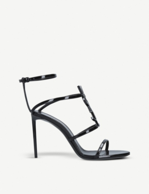 SAINT LAURENT Cassandra patent leather sandals