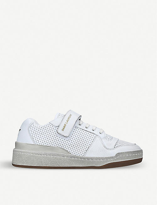 979a051f775c SAINT LAURENT Travis leather trainers
