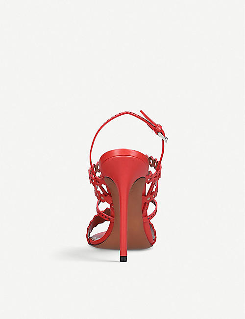 AZZEDINE ALAIA Laser-cut strappy leather sandals