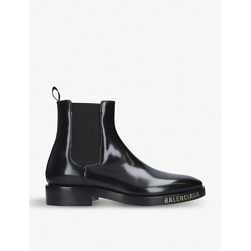 BALENCIAGA | Evening Leather Chelsea Boots | Goxip