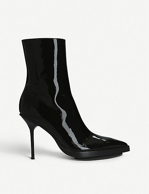 22cfc8fc8658 ANN DEMEULEMEESTER Patent-leather heeled ankle boots