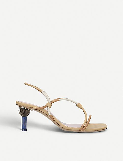 2c6bd0e3f119 JACQUEMUS Les Sandales Olbia leather heeled sandals