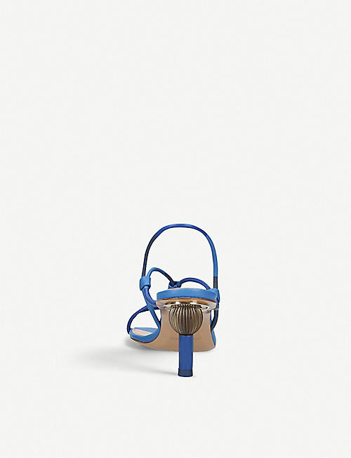 JACQUEMUS Les Sandales Olbia leather heeled sandals