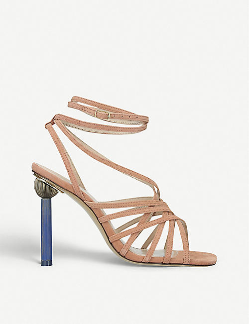2f84ae4030a JACQUEMUS Les Sandales Pisa leather heeled sandals