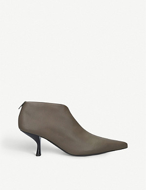 THE ROW Bourgeois leather ankle boots