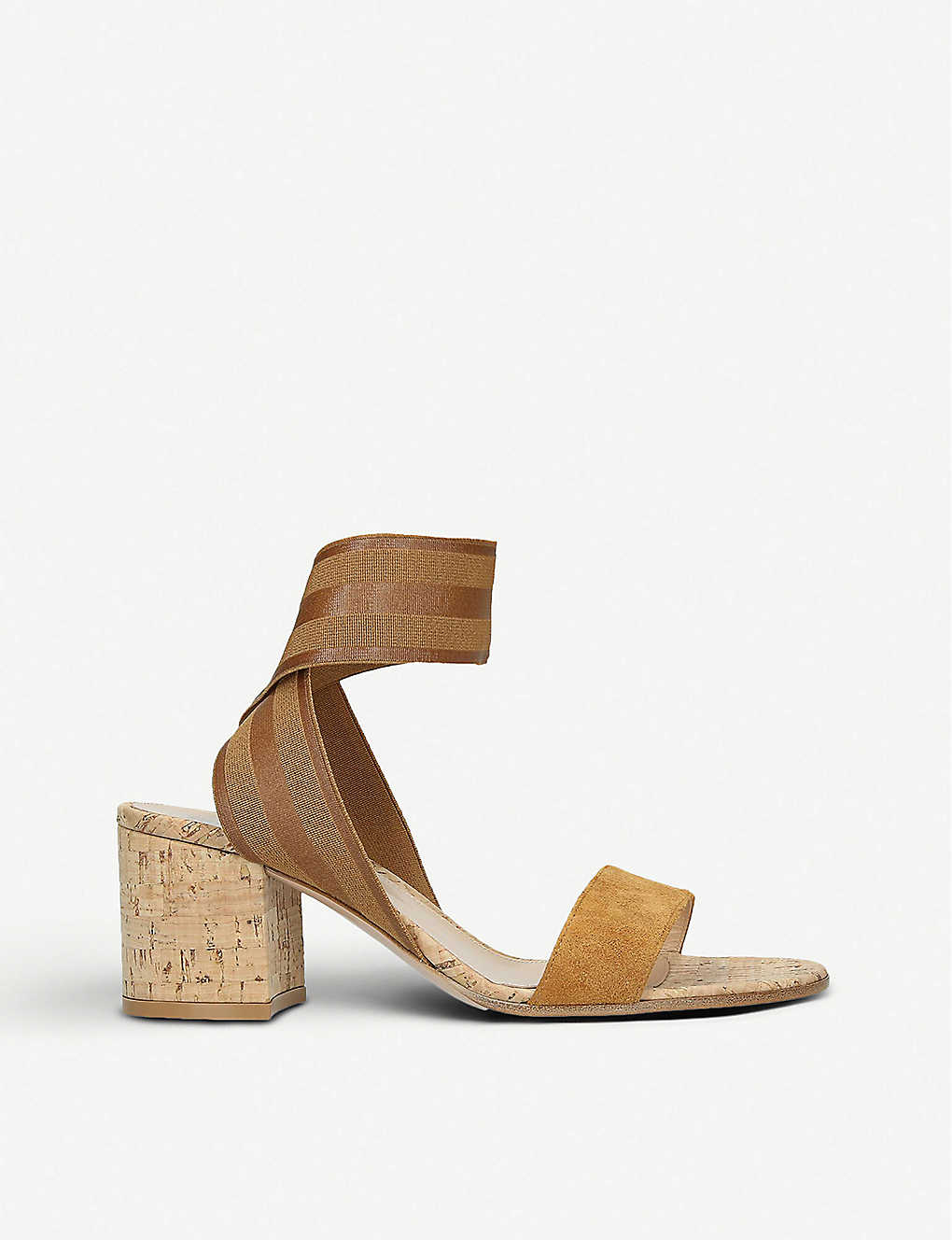 742b4a2b7e GIANVITO ROSSI - Emily suede and elastic sandals | Selfridges.com