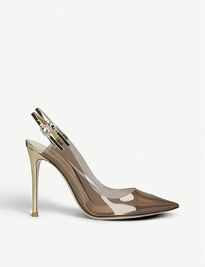 GIANVITO ROSSI Kyle PVC slingback courts