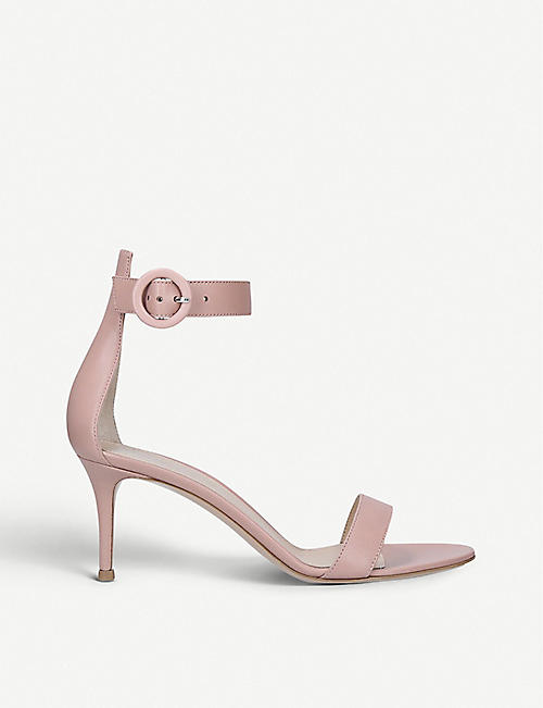 GIANVITO ROSSI: Portofino 70 leather heeled sandals