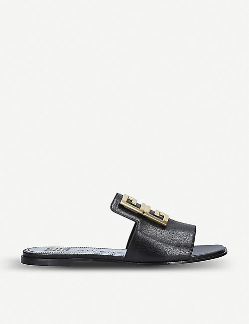 GIVENCHY 4G leather mules