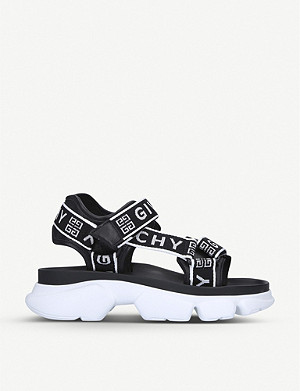 GIVENCHY Jaw logo-embellished leather and textile sandals