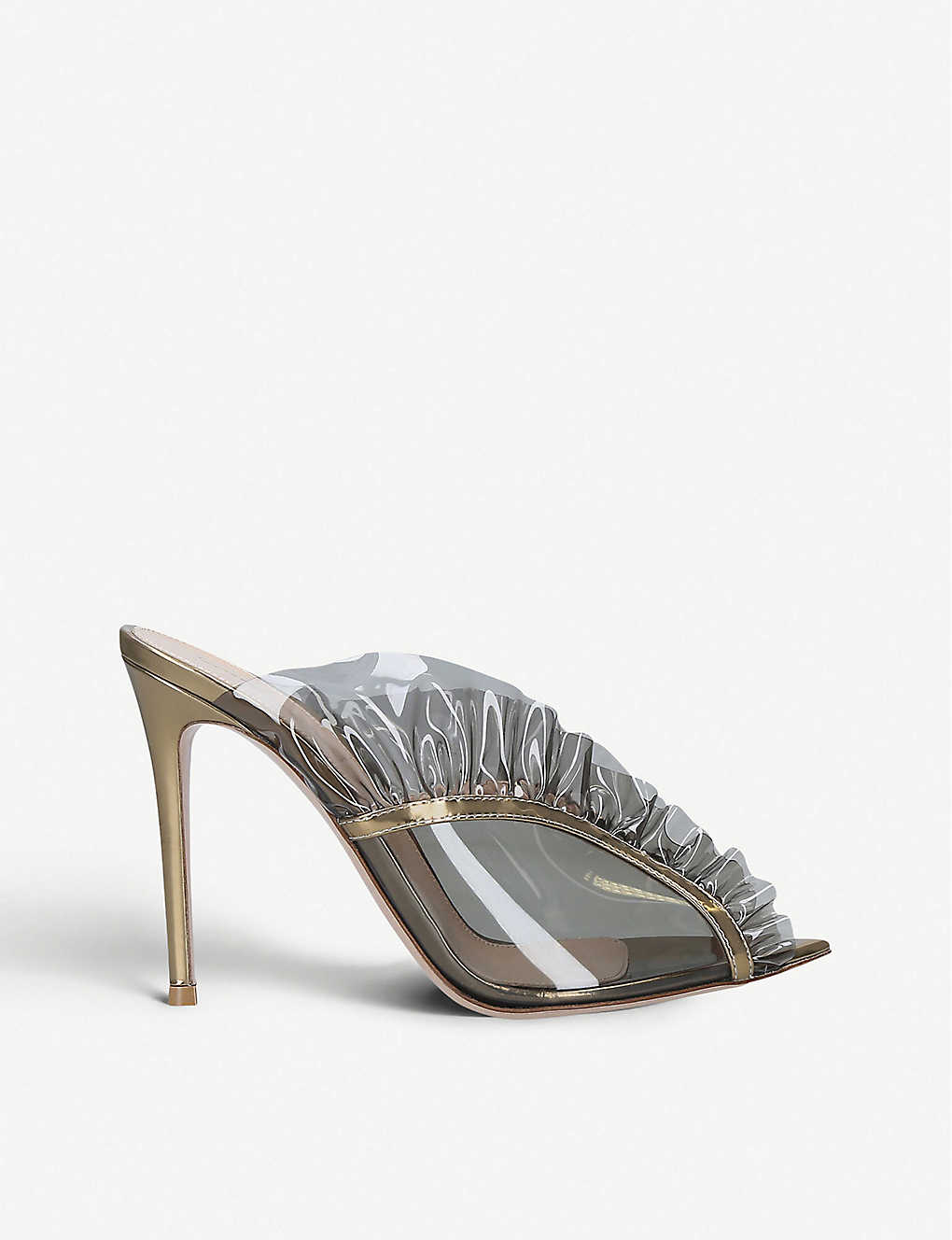 Gianvito Rossi Mules Fame 105 PVC and metallic-leather mules