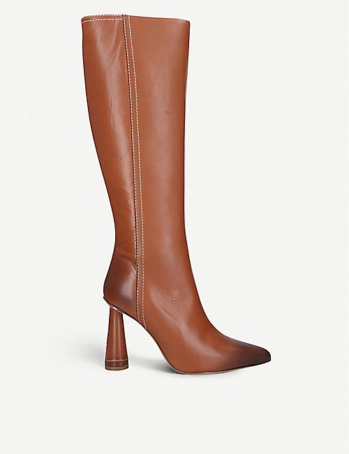 JACQUEMUS Leon leather knee-high boots