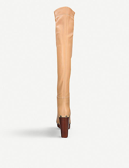 JACQUEMUS Beatrice leather knee-high boots