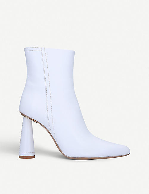 JACQUEMUS Toula leather heeled ankle boots