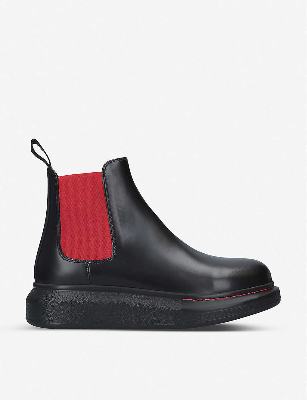 ALEXANDER MCQUEEN: Hybrid leather Chelsea boots