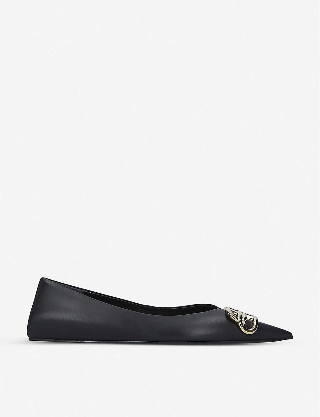 BALENCIAGA: Knife leather ballet flats