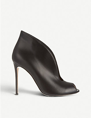 GIANVITO ROSSI: Vamp 105 leather heeled ankle boots