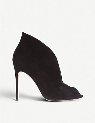 GIANVITO ROSSI: Vamp 105 suede heeled ankle boots
