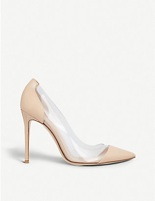 GIANVITO ROSSI: Plexi 105 patent-leather courts