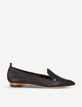 NICHOLAS KIRKWOOD: Pointed-toe leather slippers