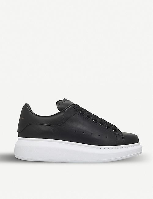 ALEXANDER MCQUEEN: Runway leather platform trainers