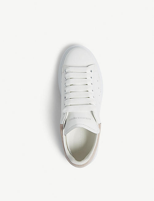 ALEXANDER MCQUEEN Ladies runway leather platform trainers